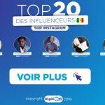 TOP 20 des comptes les plus suivis sur Instagram