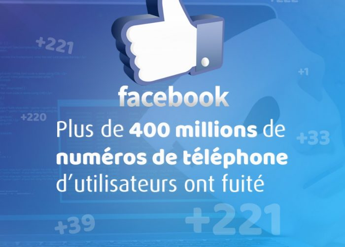 Facebook : plus de 400 millions de numéros de téléphone d'utilisateurs ont fuité