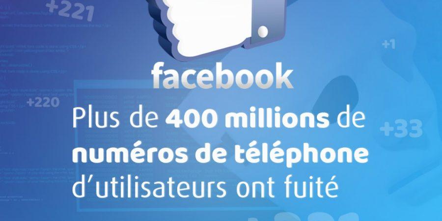 Facebook : plus de 400 millions de numéros piratés