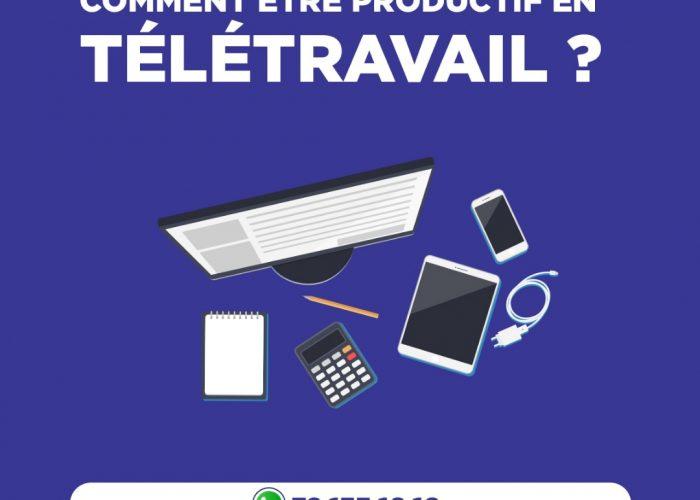 quels outils être productif en télétravail ?