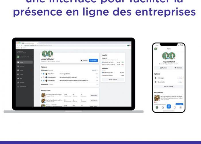 Facebook Business Suite : une interface pour faciliter la présence en ligne des entreprises