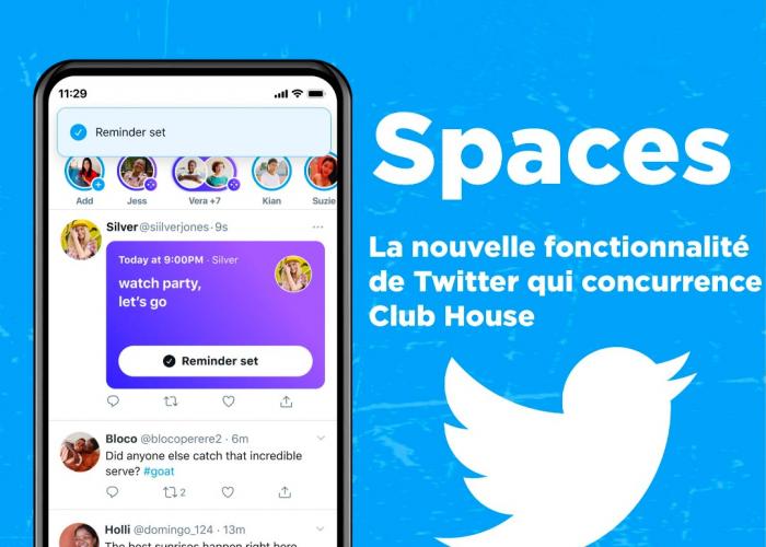 Spaces : la nouvelle fonctionnalité de Twitter qui concurrence Clubhouse